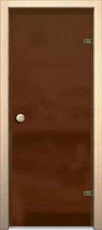 """Дверь для сауны """"Кноб Е"""" Бронза Сатинато"""